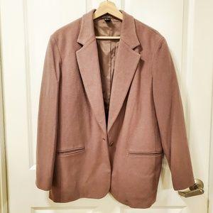 J. Crew Tan Wool Cashmere Coat